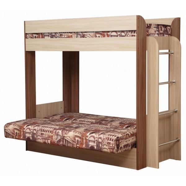 Кровать-чердак с диван-кроватью Немо ОЛМЕКО