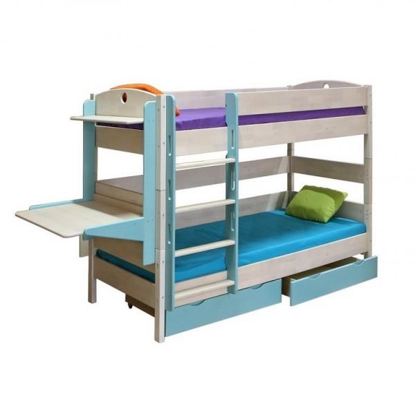 Кровать двухъярусная массив трансформер с ящиками