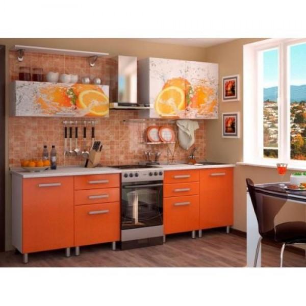 Кухня 2,0м - Апельсин МДФ