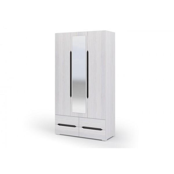Шкаф трехстворчатый с ящиками Валенсия Стендмебель